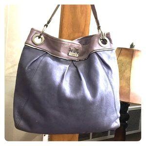 💕Coach purple leather large hobo k0993-14815 💕